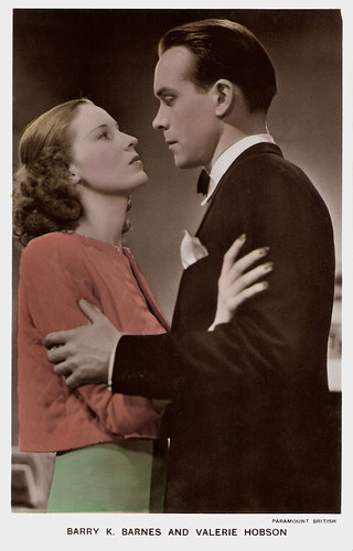 Barry K. Barnes and Valerie Hobson in This Man in Paris (1939)