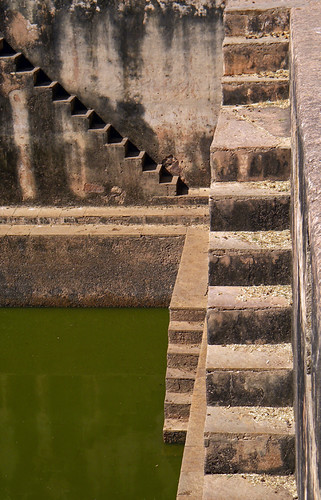 Multiple sets of stairs to Bundi Fort's Step Well
