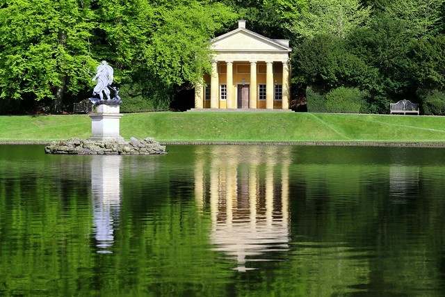 Temple Of Piety And Water Gardens In Studley Royal Park; North Yorkshire, England (Unesco world heritage)