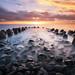 Sea Breaker Sunset by eggysayoga