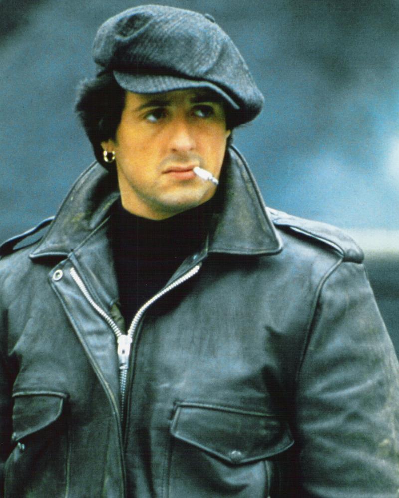 Фото | Молодой Сталлоне в кожаной куртке