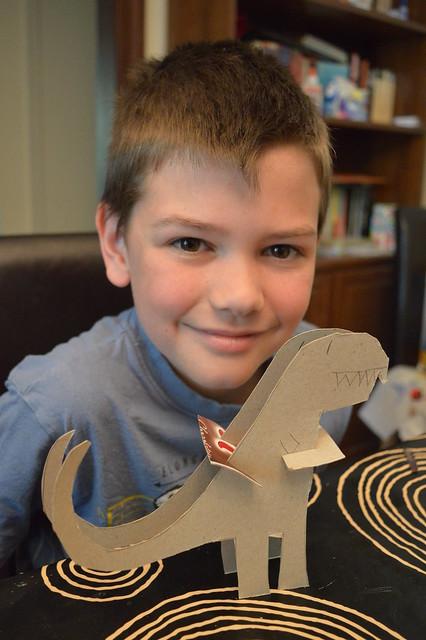 Cardboard Sculpture - T Rex