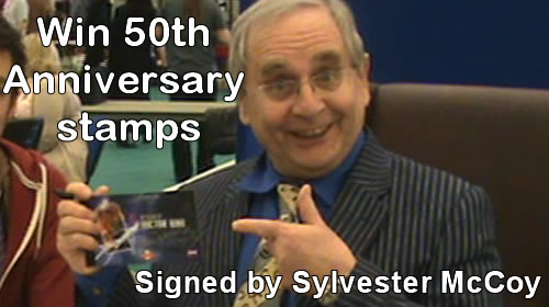 *COMPLETED* Enter our Doctor Who 50th Anniversary stamps signed by Sylvester McCoy Giveaway