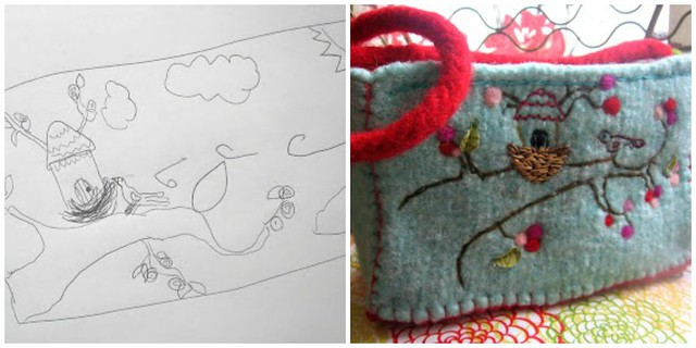 Kaiden Inspired Felted Basket -- from long ago!