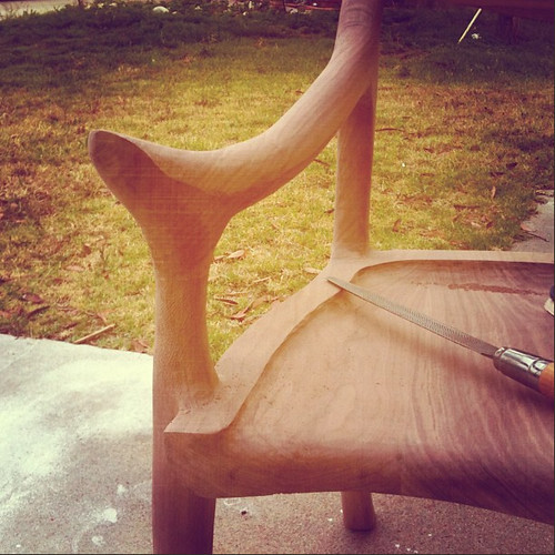 Low-Back Sculptured Chair in Progress