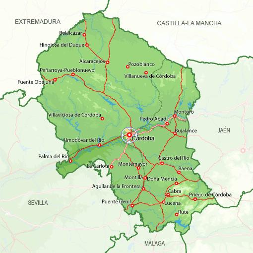 Mapa Provincia de Cordova