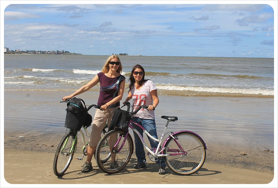 dani and jess at the beach in montevideo uruguay
