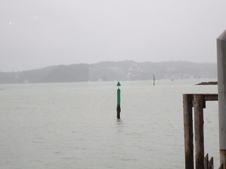 The view from Paihia over to Russell