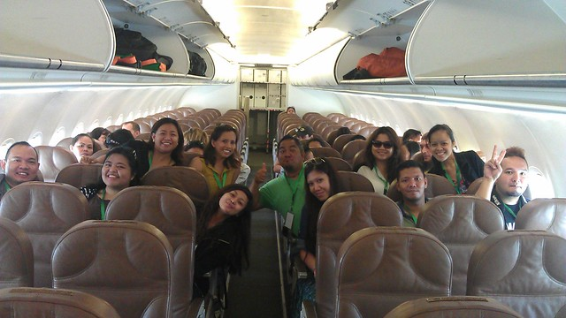 inside Zest Air flight Z2501