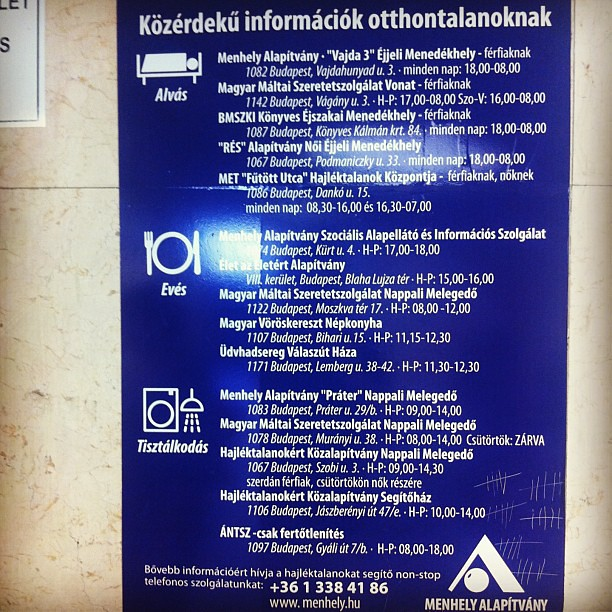 Info for homeless #budapest #hungary #travel #urban #mik #jjforum #ikozosseg #instafollow #instagramers