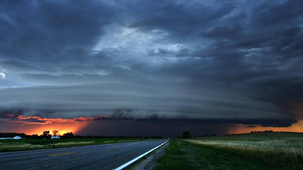 storm clouds photo