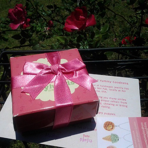 In the mail today, cupcake scented jewelry from @tinyhands