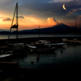 Moon over Lago di Garda - (Thnx for all the invitations)