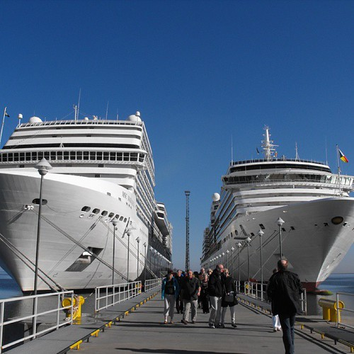 Always wanted to take pic like this - Magnifica left and Arcadia right - Tallinn by chrisLgodden