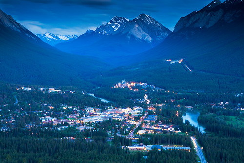 Banff at blue hour