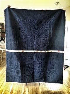 Back of cartwheel quilt