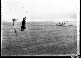 HMS REPULSE possibly near Sydney Heads