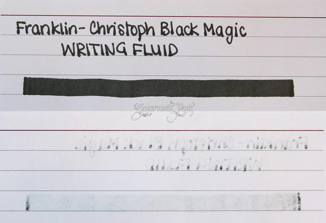 Franklin-Christoph Black Magic Writing Fluid Writing Sample on FC Paper