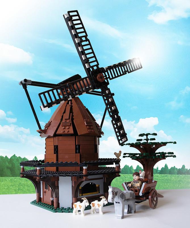 LEGO medieval windmill MOC