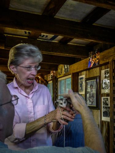 Sharon with Pet Possum
