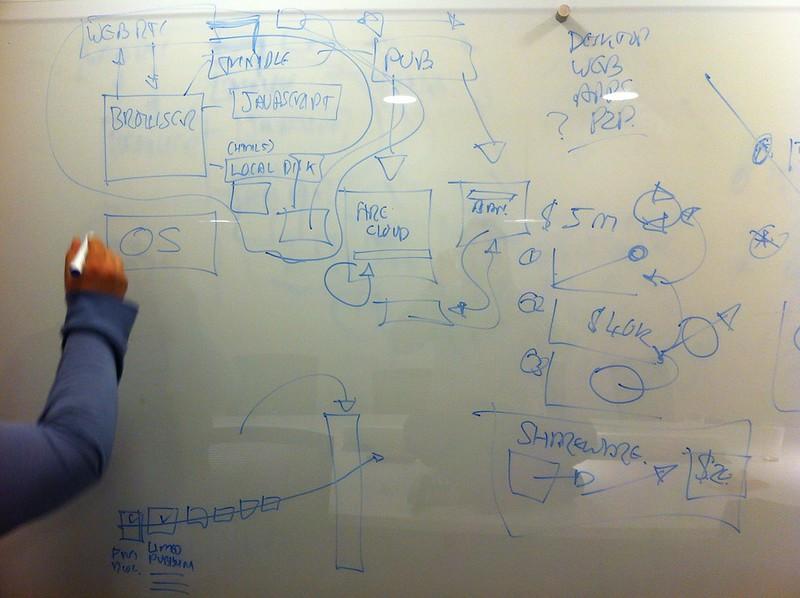 Vinay Gupta brainstorming Firecloud at MozLDN
