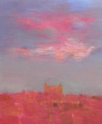 pintura sobre tela rosas