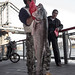 Biker catches big east river bass by Several seconds