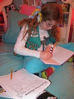 Zoe writing