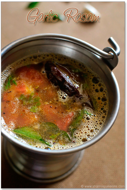 Garlic Rasam Recipe
