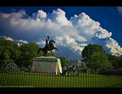 Political Storms bursts over Washington, DC by Sam Antonio Photography