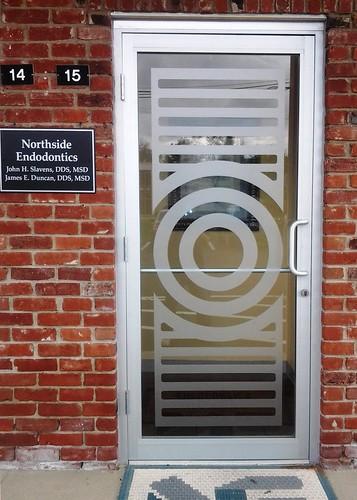 Etched Vinyl Window Door Graphics by Redirections Sign & Design
