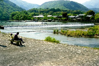 The scenery along the Katsuragawa river.