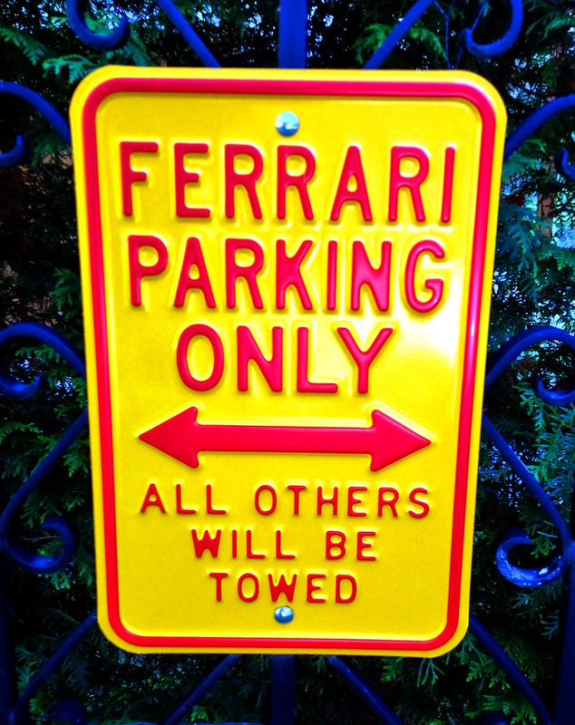 Ferrari Parking Only - All others will be towed by aigarsbruvelis