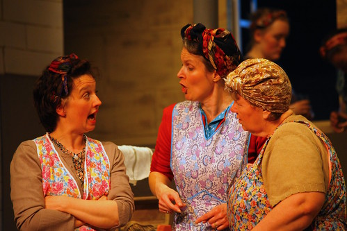 Doreen (Alison Carcas), Magrit (Carole Birse) and Dolly (Phyllis Rose) share the gossip. Photo © Richard M Marshall