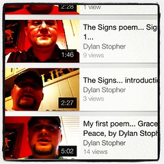 www.dylanstopher.com Video poem series is going on at the blog; come join me for a piece by piece tour through The Signs in John's Gospel. Grace & peace to you!!!