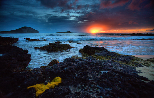 ocean clouds sunrise hawaii oahu eastern lavarocks bobbyaycock