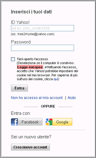 3 scegli con che account registrarti su flickr