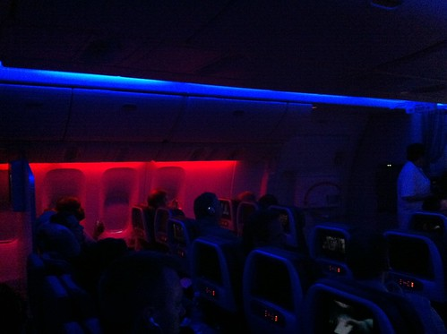 American Airlines 777-300ER Mood Lighting