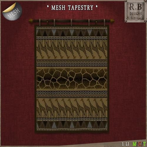 PROMO ! *RnB* Mesh Tapestry - African Giraffe