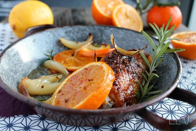 Cuisse de pintade r tie l 39 orange oignon et romarin - Comment cuisiner des cuisses de pintade ...