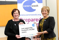 With actress Lynda Bellingham to show my support for Carers Week 2013
