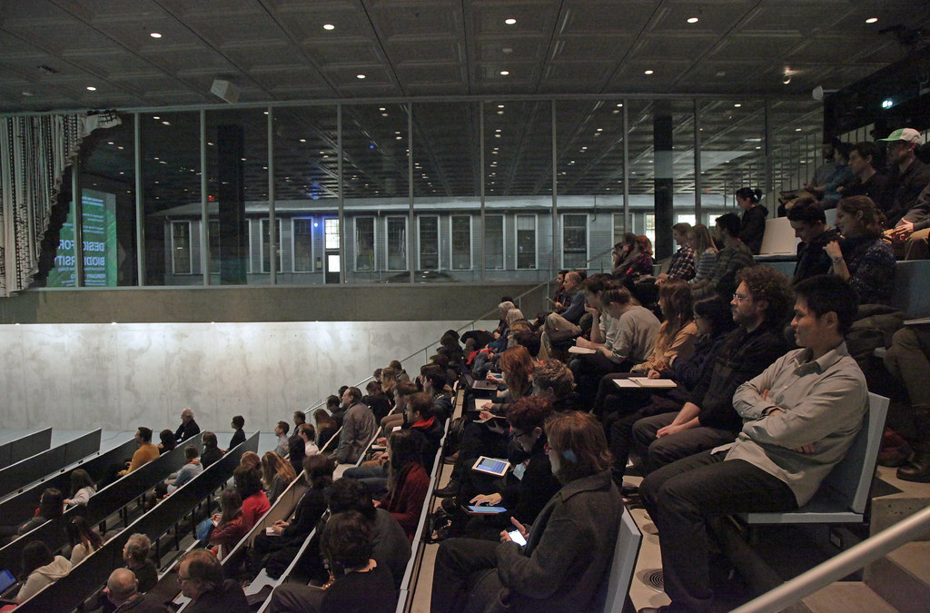 A view of the auditorium during the keynote address.