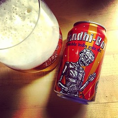 Gandhi-Bot Double IPA from New England Brewing.