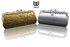 BeloD - new Cristal Clutch in gold and silver