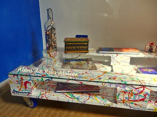 Mesa de centro colorida, feita com pallet! – Passo a passo