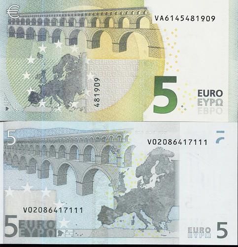 5 Euros. Reverso