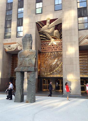 Ugo Rondinone Sculpture, Rockefeller Ctr.
