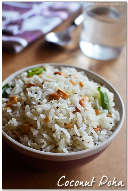 Coconut Poha Recipe