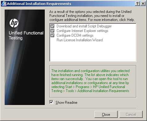HPUFT Additional  installation requirements Downloading
