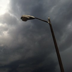 #tampa #lightpost #seagull #sky #clouds #storm #pier #florida #iphone5 #nofilter #philgates #gatesdesigns